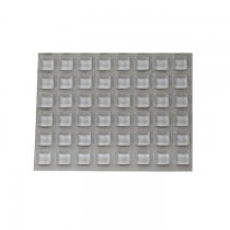 50.A6200087 Siliconen kussentjes 12.6 x 5.7mm